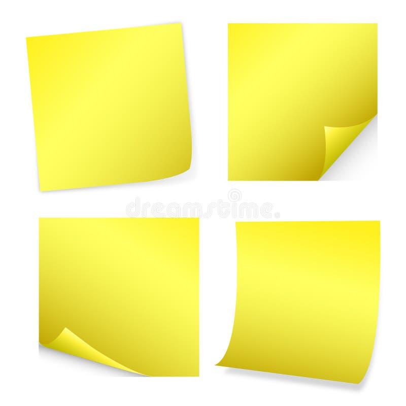 Yellow Post-It Stock Image