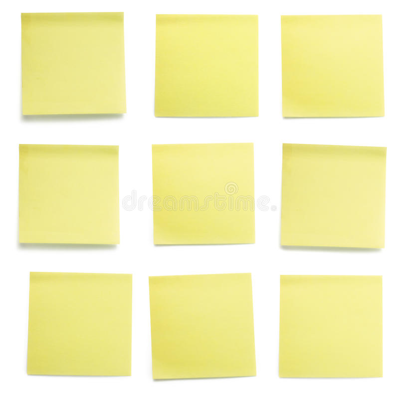 Free Yellow Post-it Papers Set Royalty Free Stock Images - 11938779