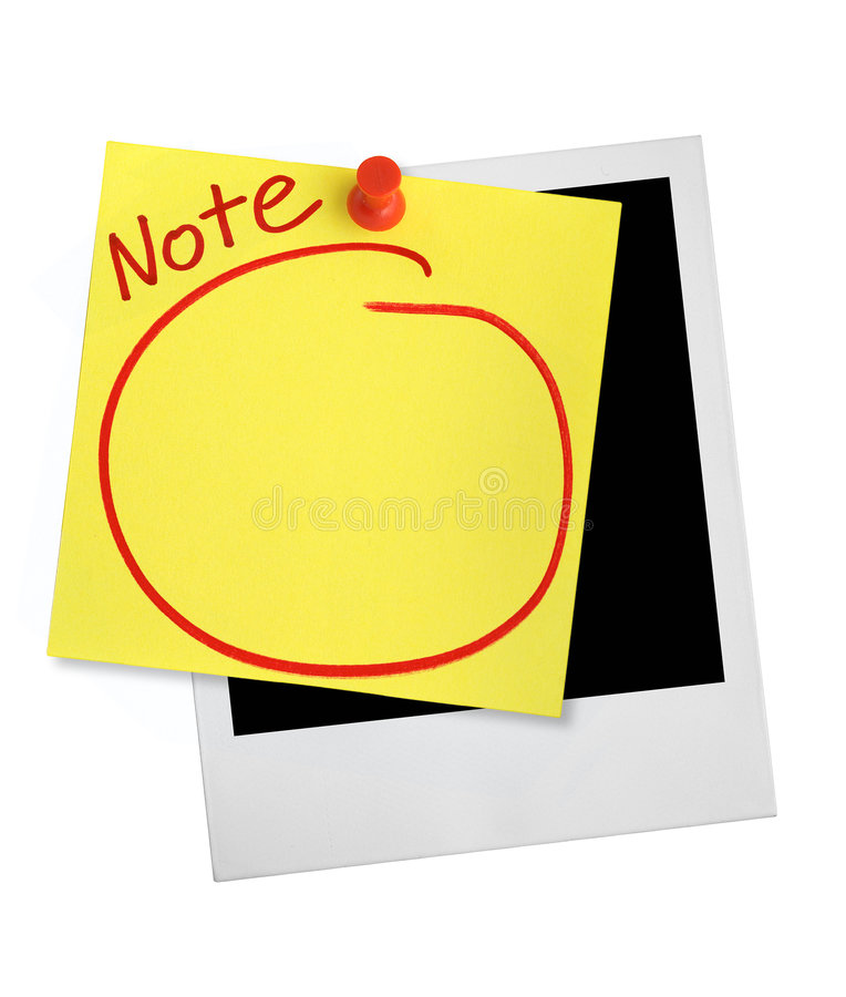 Yellow note stock photos