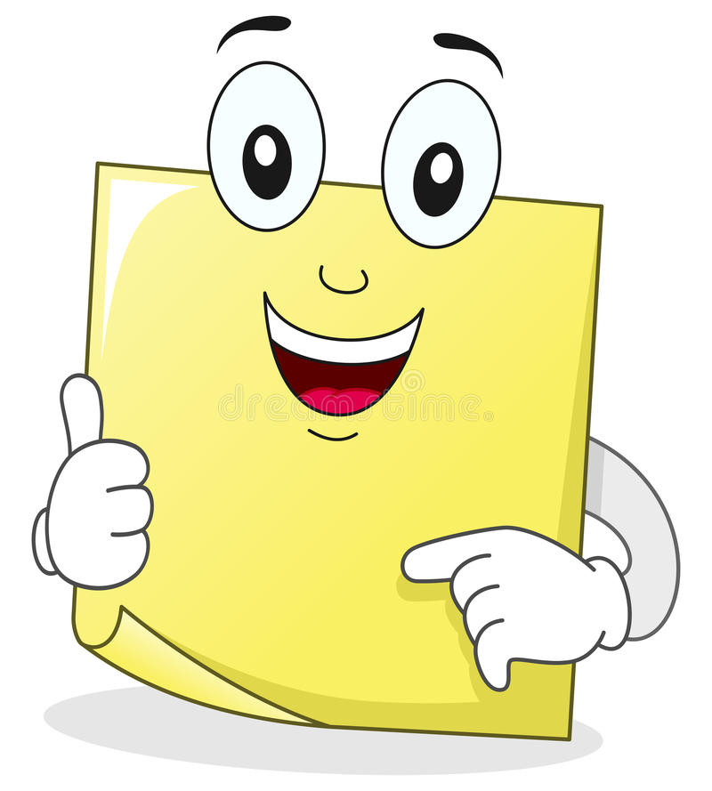 Download Yellow Post It Sticky Note Character Stock Vector - Image: 42200574