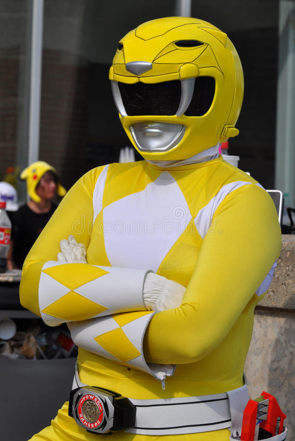 Download Yellow Power Ranger editorial stock photo. Image of ranger - 18128668