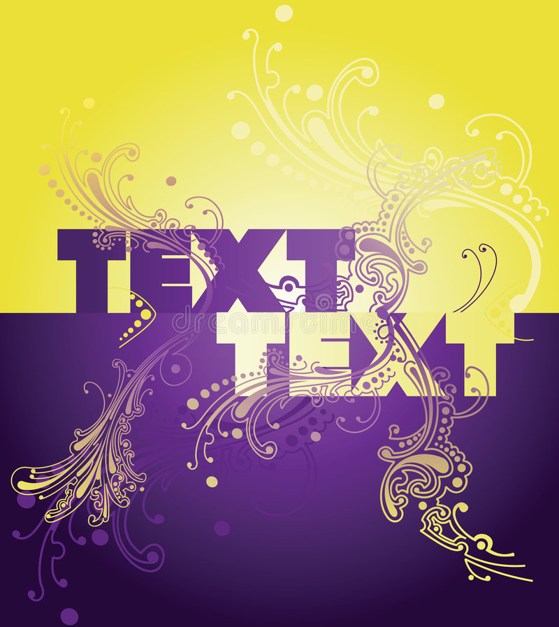 Download Yellow Purple Wow Curves Text Stock Photo - Image: 8652870