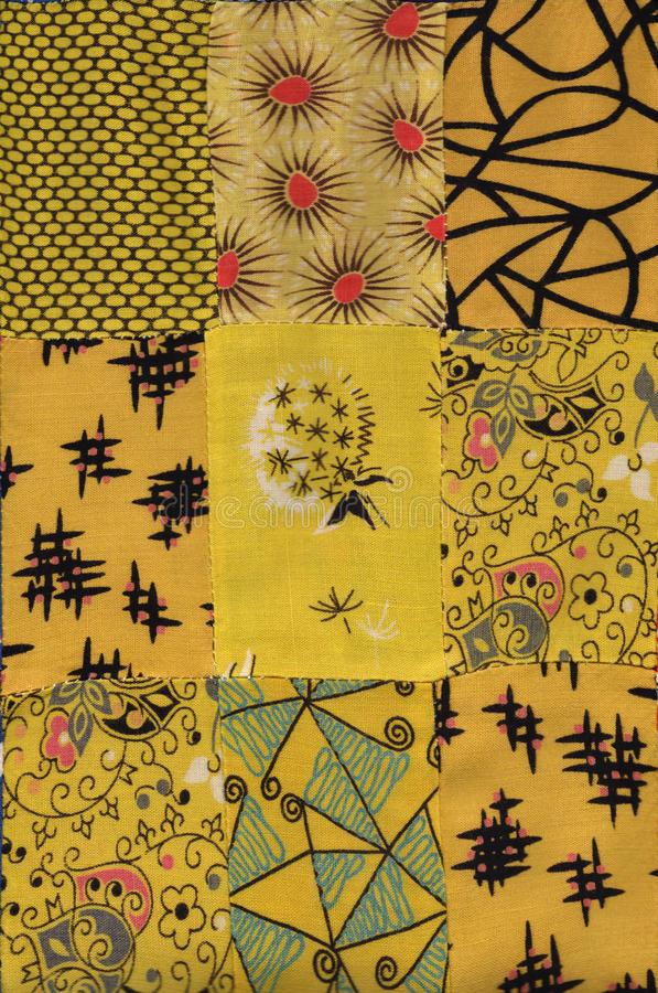 Yellow quilt pattern stock photography