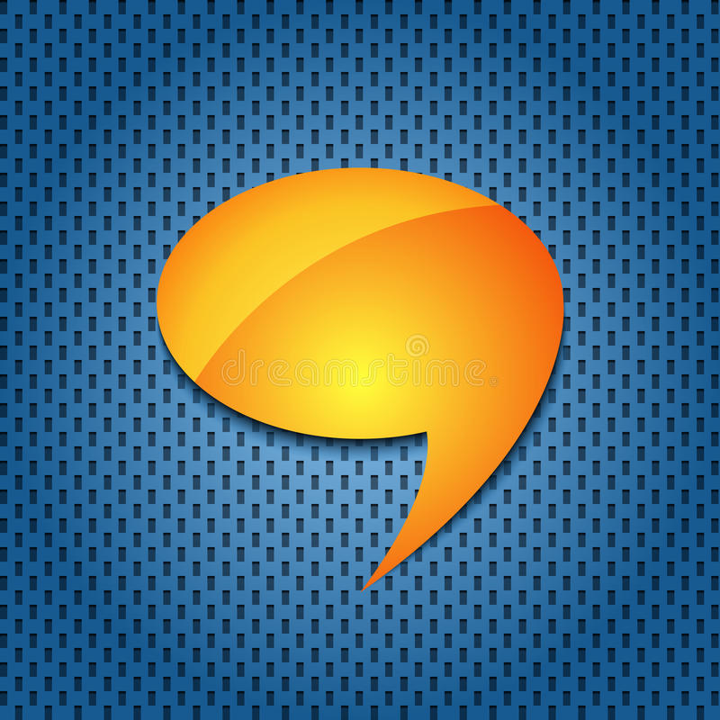Download Yellow quote speech bubble stock vector. Image of icon - 22986763
