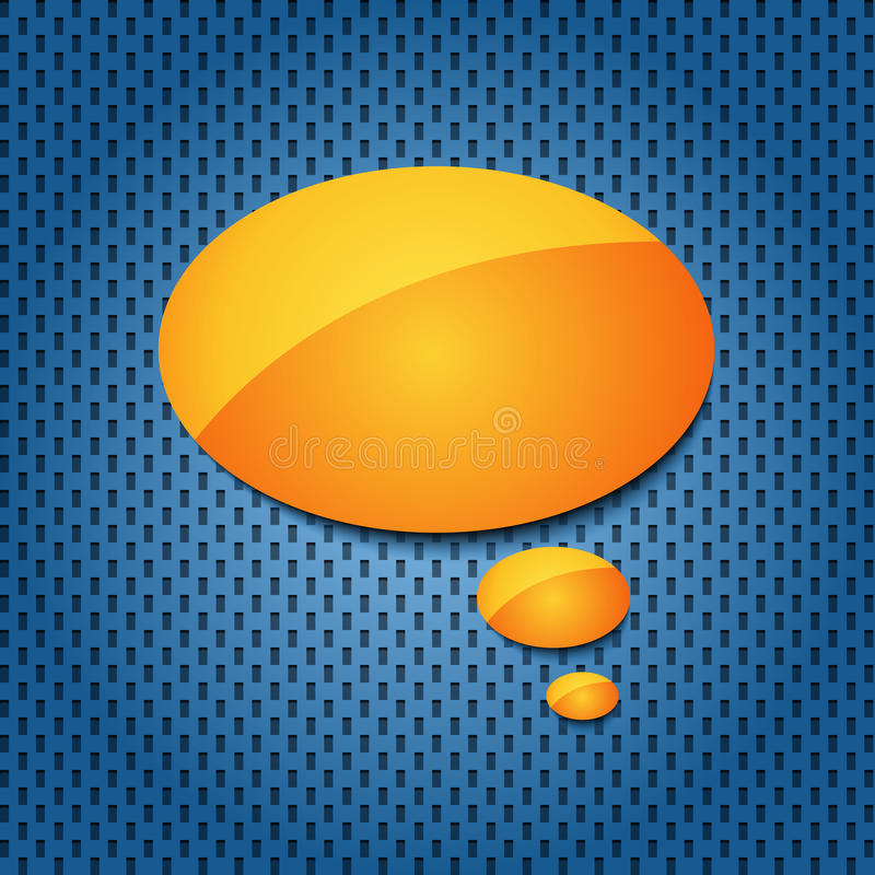 Yellow quote speech bubble stock illustration