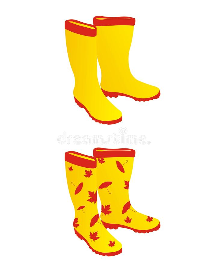 Free Yellow Rain Boots Royalty Free Stock Image - 15869776