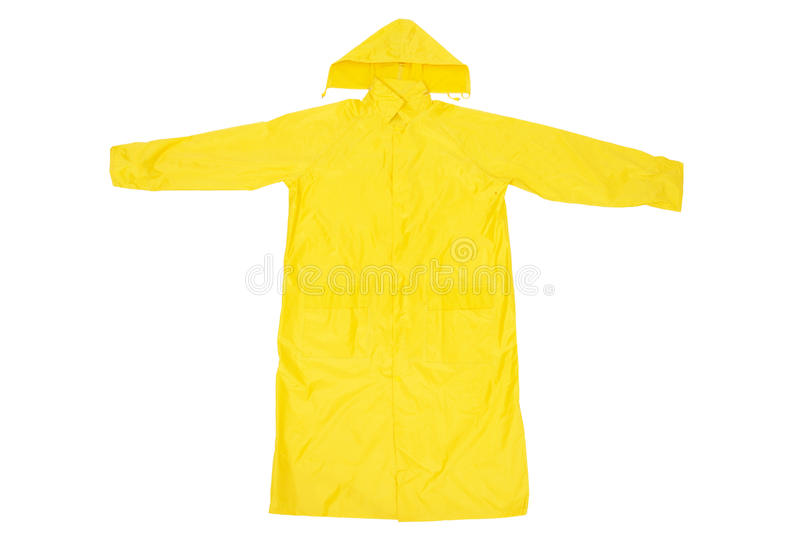 Yellow Raincoat stock image