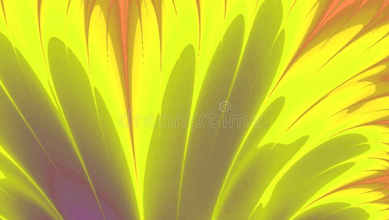 Yellow rays abstract gradient blank. Yellow rays abstract gradient background royalty free illustration