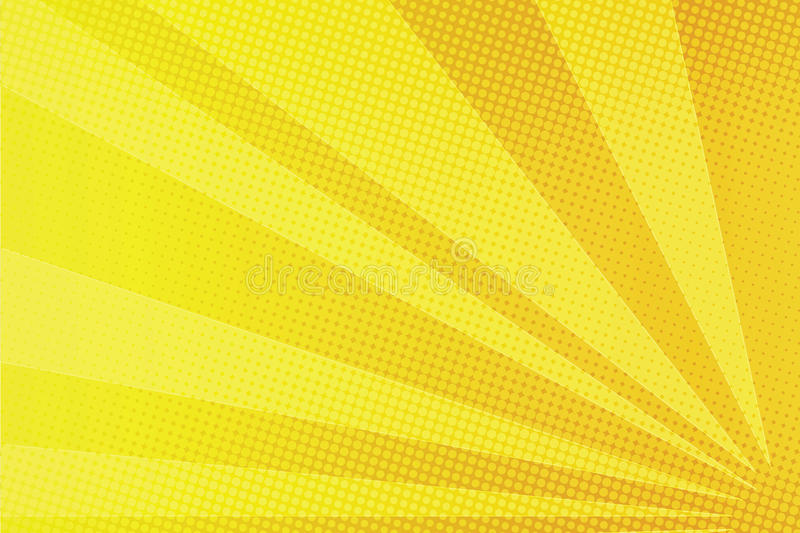 Yellow rays comic pop art background vector illustration