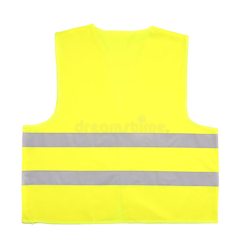 Yellow recue vest. Isolated on white background royalty free stock photography