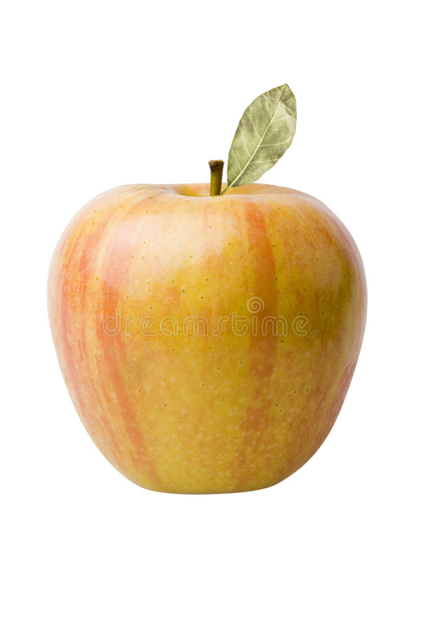 Yellow Red Apple stock images