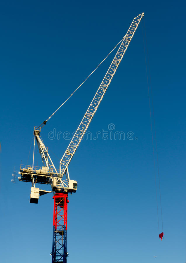 Download Yellow Red And Blue Hoisting Crane Stock Image - Image: 16637307