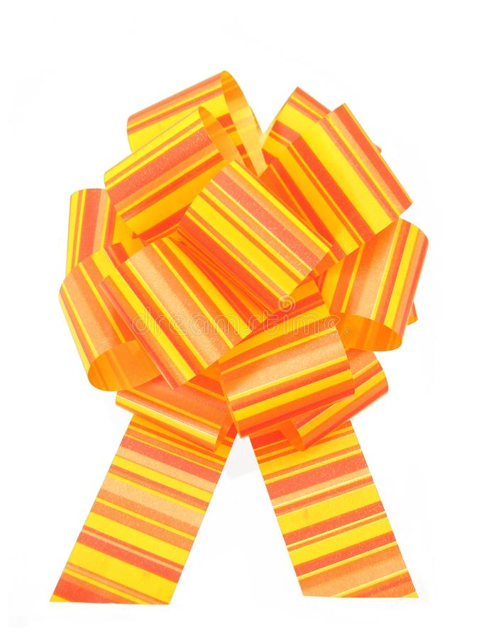 Yellow red bow stock images