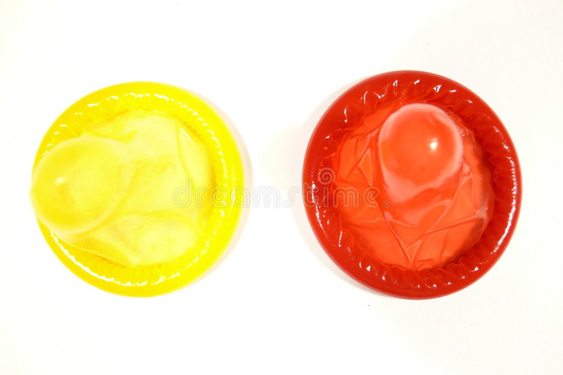 Download Yellow and red condoms stock photo. Image of ring, disease - 7993438