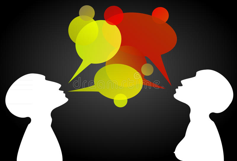 Download Yellow And Red Conversation Boxes Stock Illustration - Image: 18069277