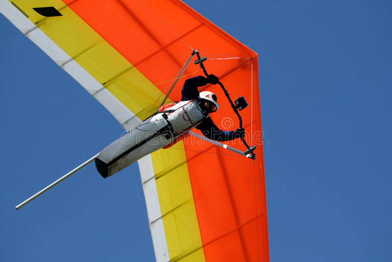 Download Yellow-red hang-glider stock photo. Image of dome, flight - 2620190