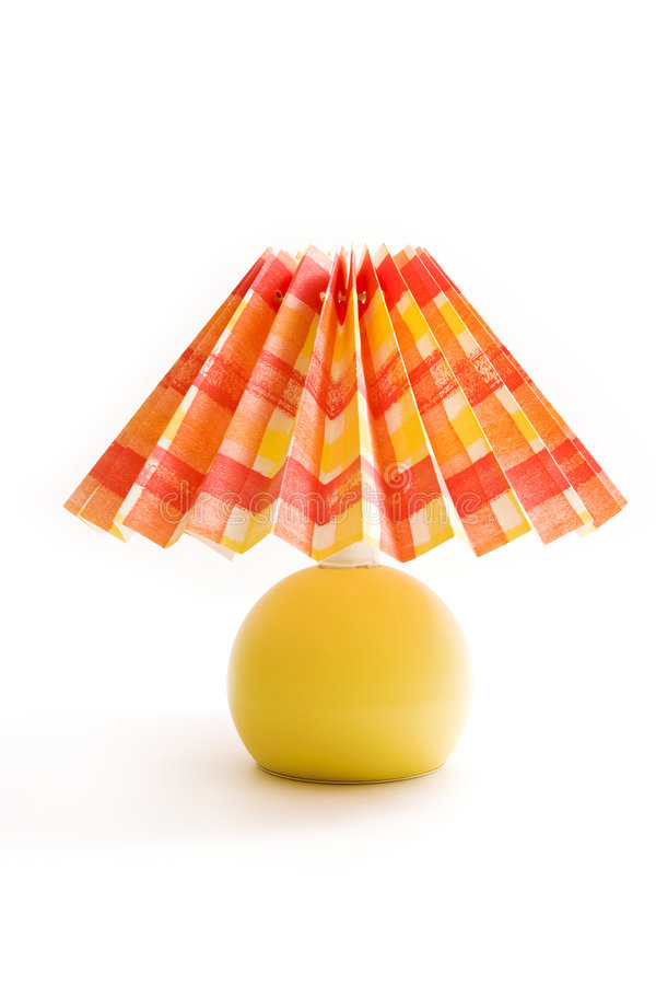 Yellow - red lamp stock images