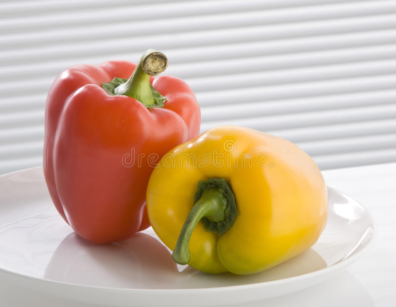 Download Yellow and red paprika stock image. Image of tasty, white - 13058791