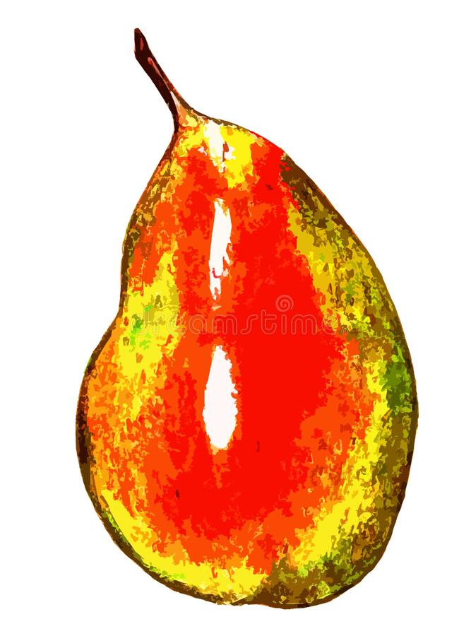 Free Yellow-red Pear On A White Background Stock Images - 175586864