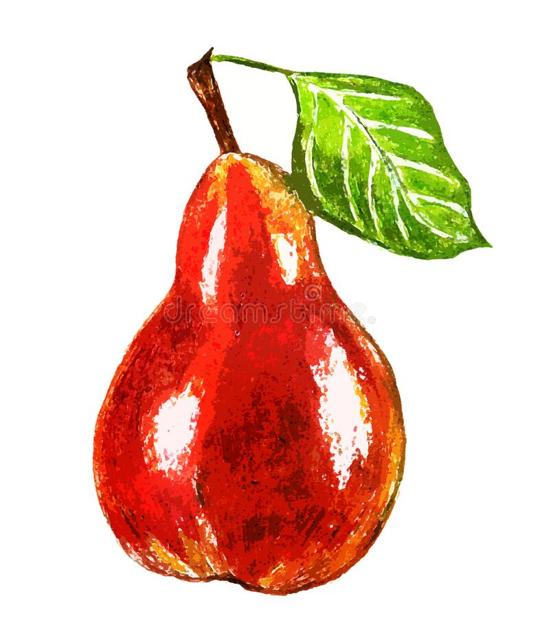 Free Yellow-red Pear On A White Background Stock Photos - 175586923