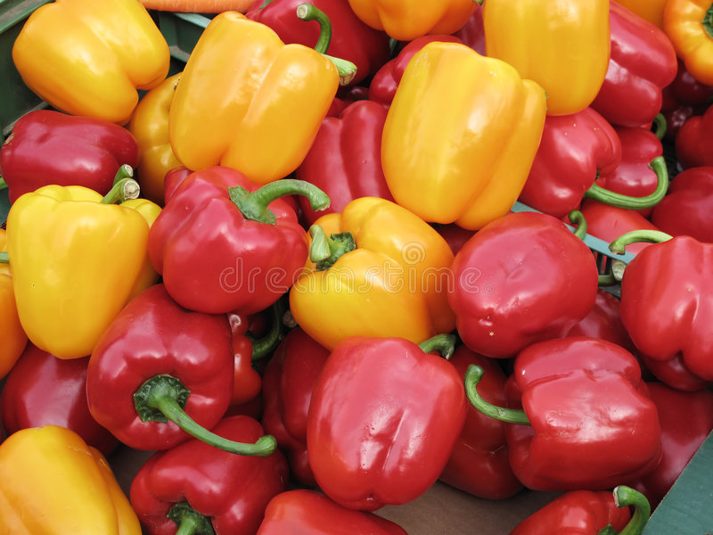 Download Yellow and red peppers stock image. Image of stall, fruit - 8650407