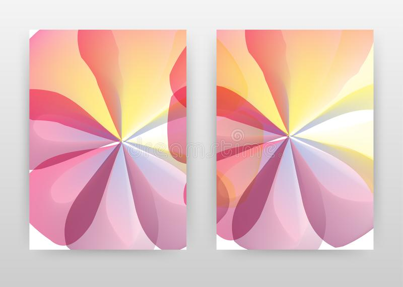 Yellow red purple petal concept abstract design of annual report, brochure, flyer, poster. Flower concept background vector. Illustration for flyer, leaflet vector illustration