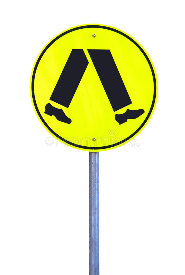 Download Yellow Reflective Pedestrian Crossing Sign Stock Image - Image: 9158549