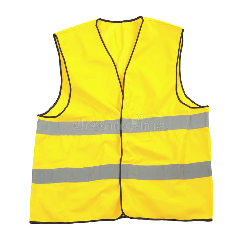 Download Yellow safety vest stock image. Image of protective, background - 30098725