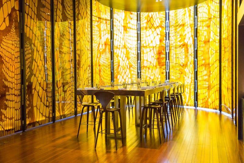 Yellow Restaurant royalty free stock photography