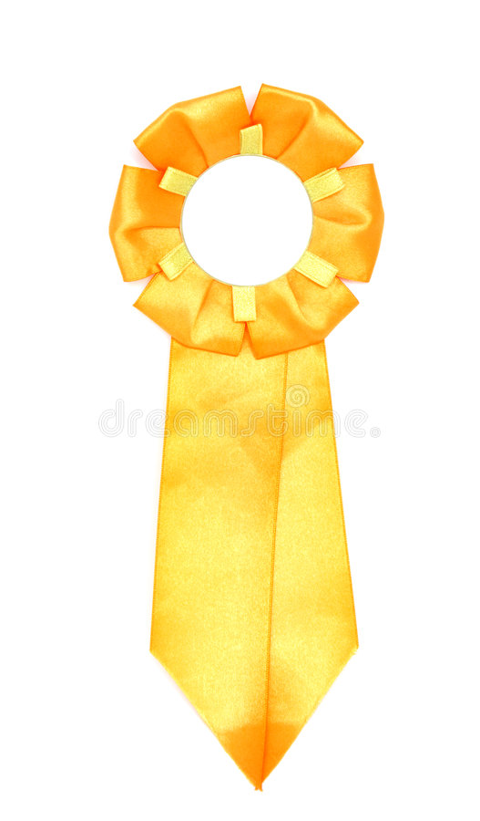Yellow ribbon royalty free stock images