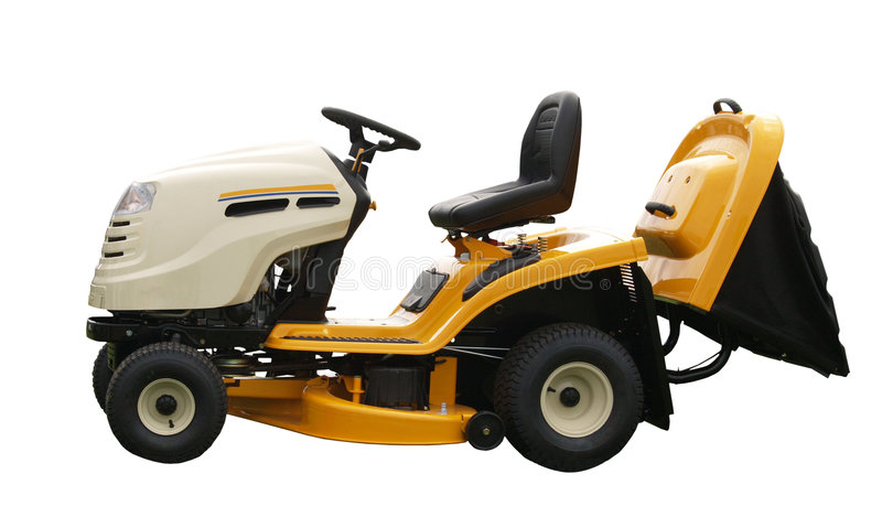 Download Yellow Ride-on Mower stock image. Image of modern, care - 3478887