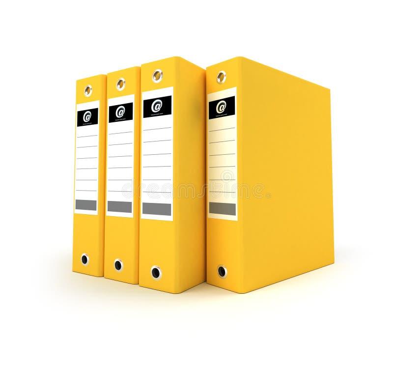 Yellow ring binders royalty free illustration