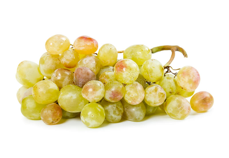 Yellow ripe grapes royalty free stock images