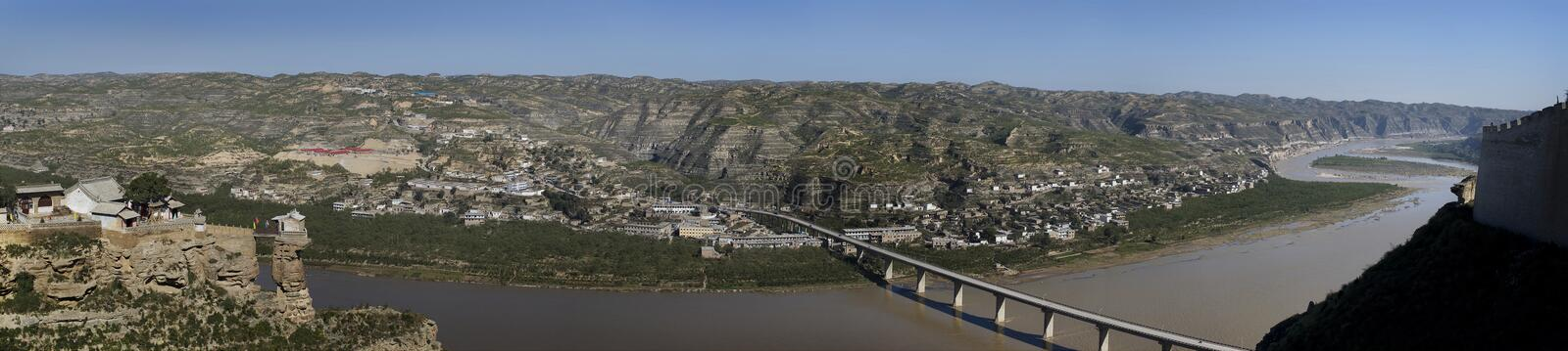 The Yellow River stock photo