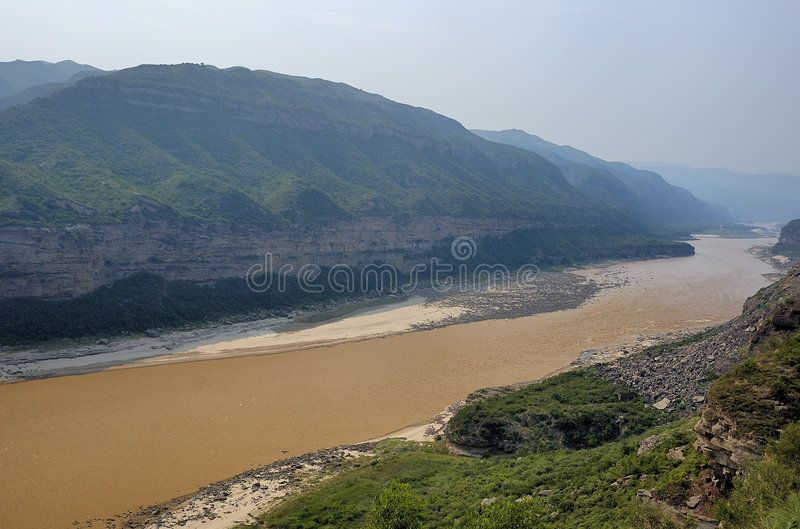 Yellow river royalty free stock image