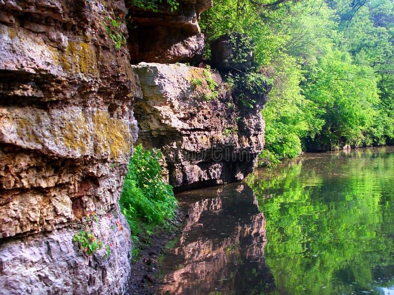 Yellow River i Krape parkerar Illinois royaltyfri fotografi