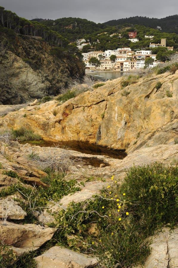 Download Yellow Rocks Of Costa Brava Stock Image - Image of tuna, gerona: 20707947