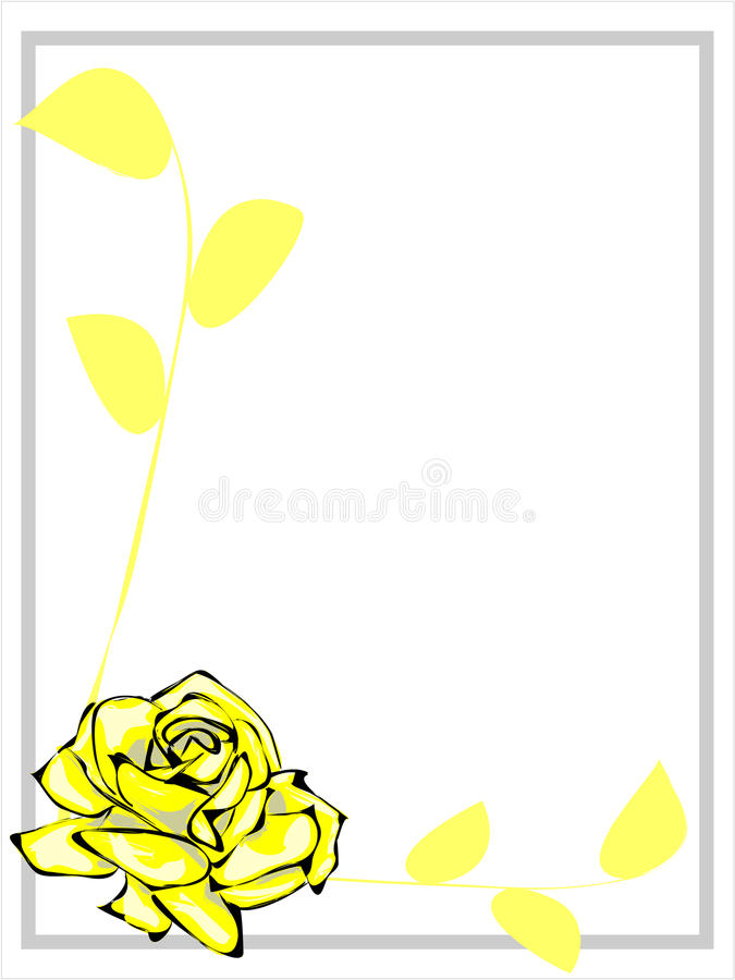 Download Yellow Rose Border stock photo. Image of painted, spring - 28798054