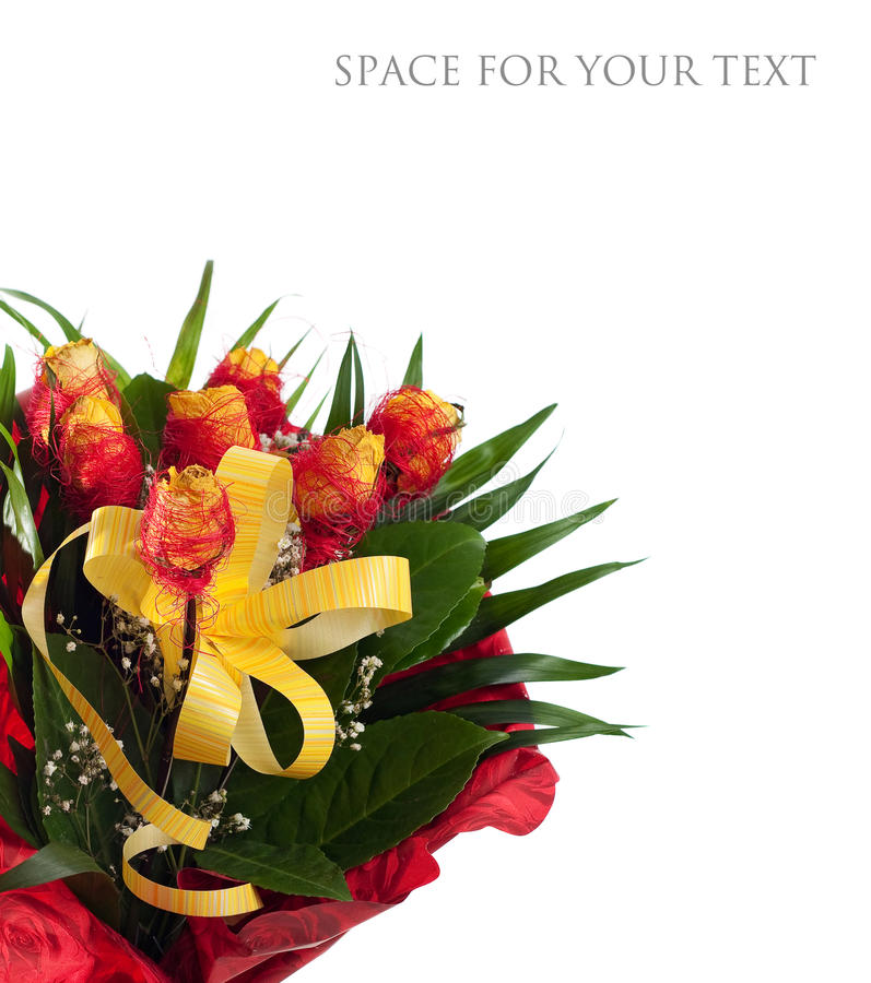 Download Yellow roses stock photo. Image of arrangement, detail - 12830632