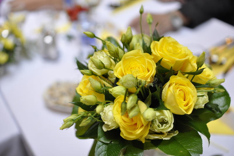 Download Yellow Roses stock photo. Image of celebration, centrepiece - 25450494