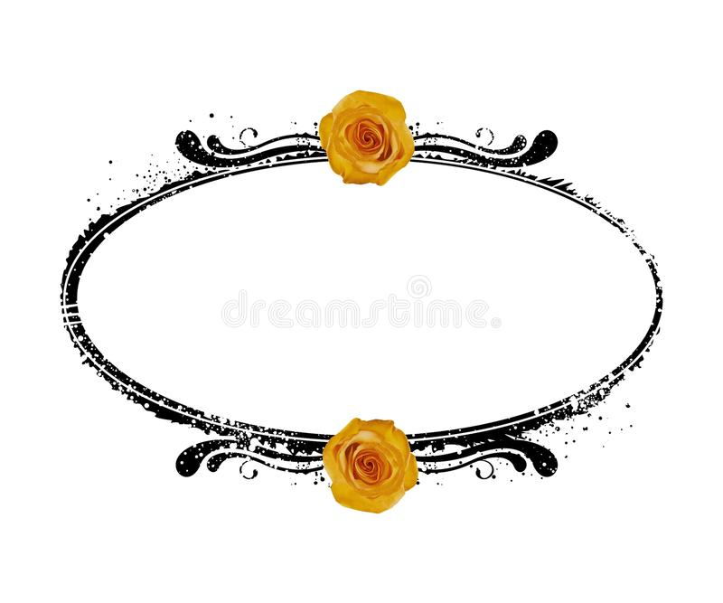 Download YELLOW ROSES BLACK FRAME Stock Illustration - Image: 83714476