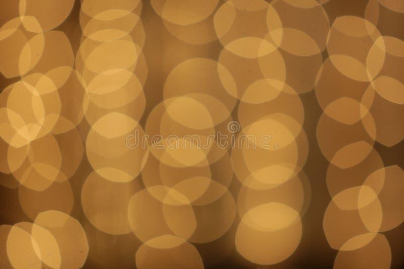 Yellow round bokeh from camera stock image