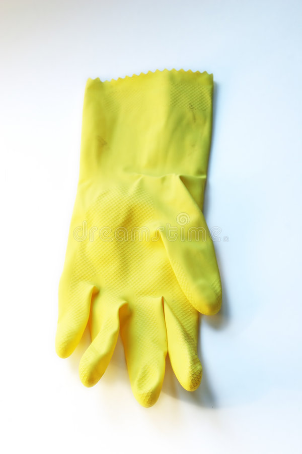 Download Yellow Rubber Glove stock photo. Image of rubble, yellow - 194038