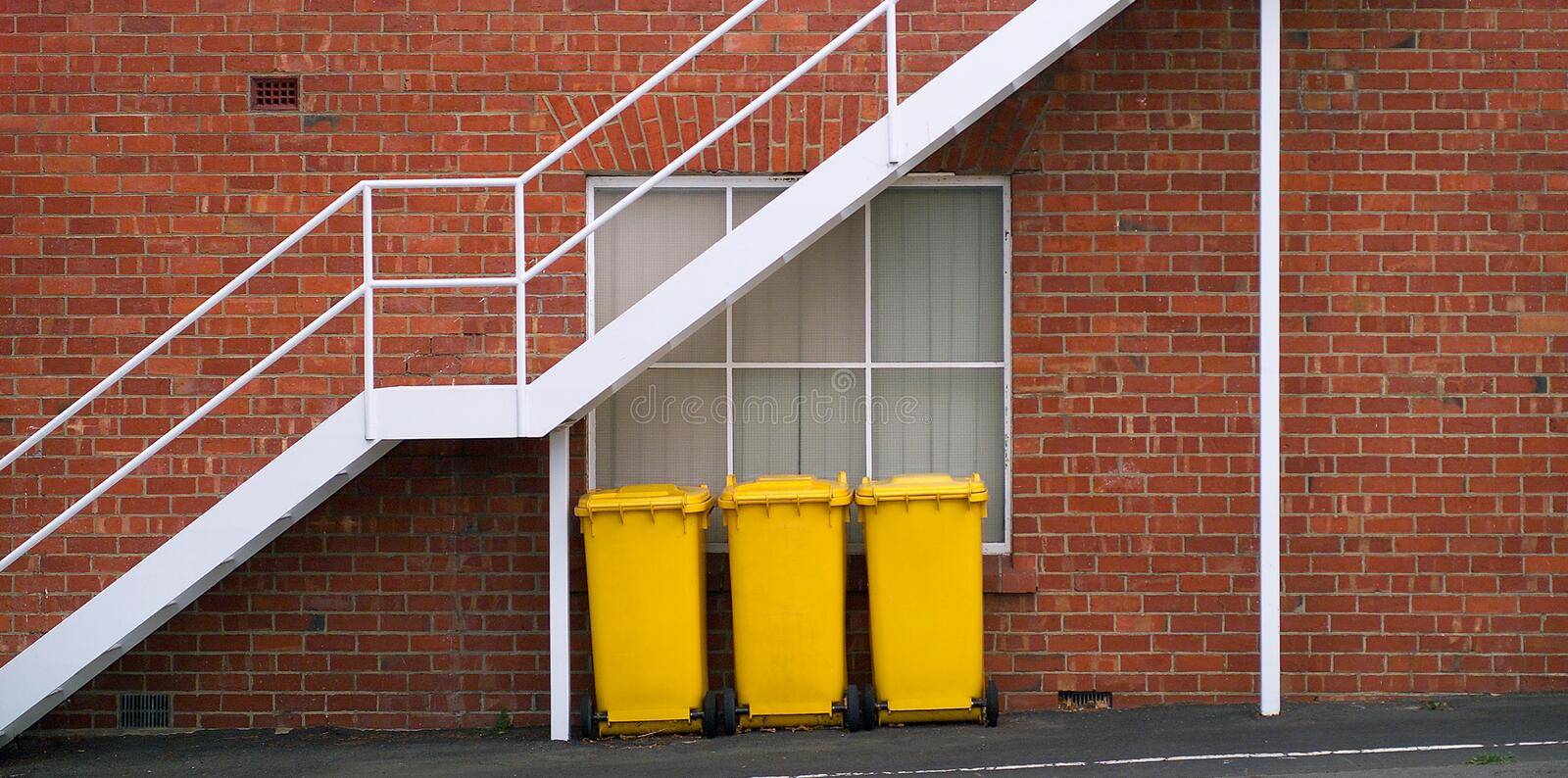 Download Yellow Rubbish Bins Royalty Free Stock Images - Image: 22307709