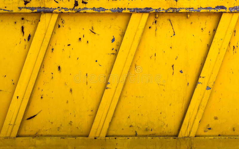 Yellow rubble container royalty free stock photography