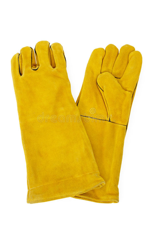 Yellow Safety Gloves royalty free stock photos