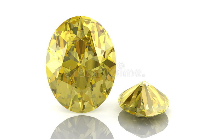 Download Yellow sapphire stock image. Image of glisten, carat - 25605921