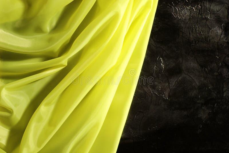 Yellow satin royalty free stock photo