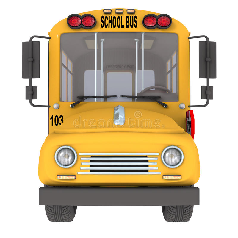 Yellow school bus stock illustration