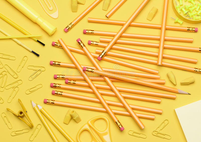 Download Yellow School Supplies stock photo. Image of education - 33248124